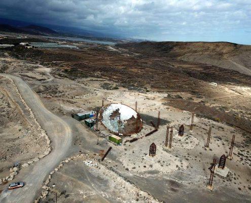 Satellitenschüssel Arenas del Mar